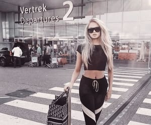 romee strijd, airport, and beautiful image