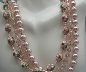 bead necklace, etsy, and flower necklace image