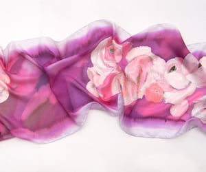 etsy, spring scarves, and silk shawl image