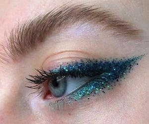 blue, makeup, and eyeliner image