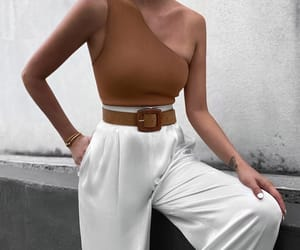 blogger, look, and white pants image