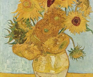 art, flowers, and gogh image