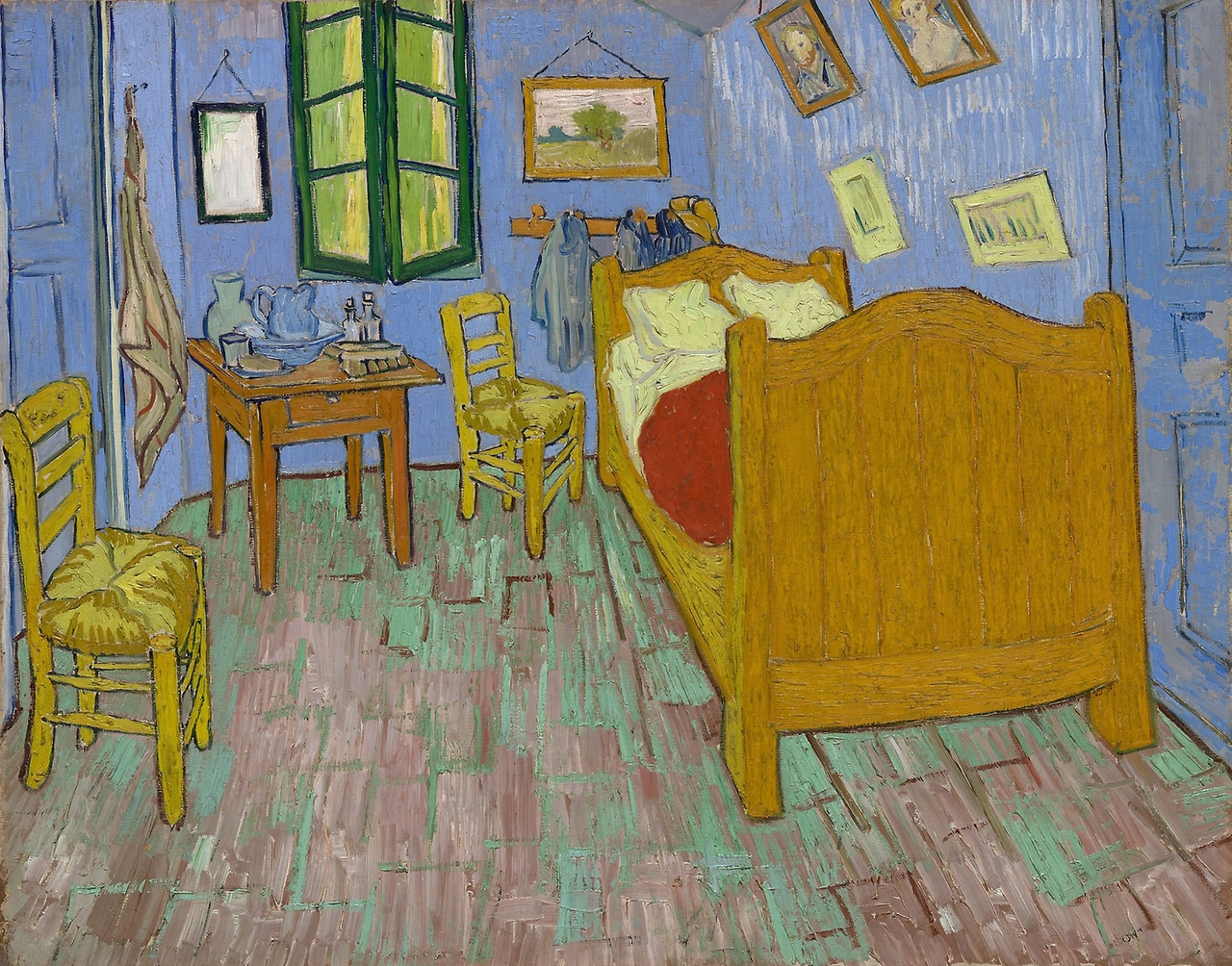 art, bedroom, and gogh image