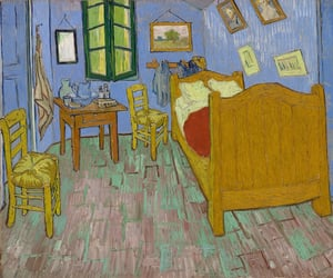art, bedroom, and van image