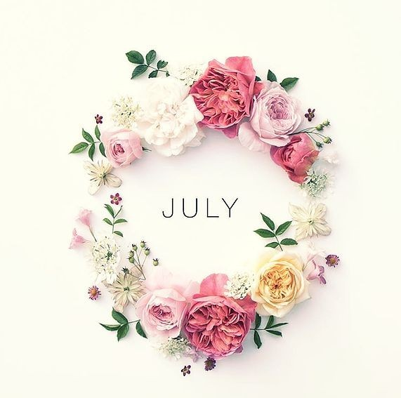july, month, and juillet image