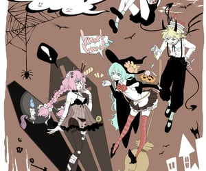 Halloween, kagamine rin, and megurine luka image