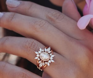 etsy, oval halo ring, and crownring image