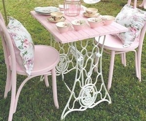 pink, cottage, and cottagecore image