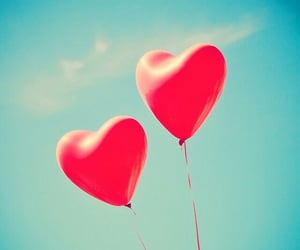 balloons, pale, and valentines image