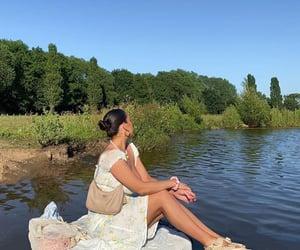 sunny day, White Summer Dress, and fashionista fashionable image