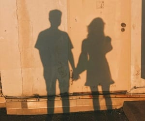 love, couple, and shadow image