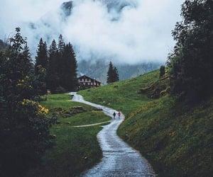 cloudy, lake, and magical image