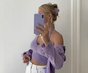 blonde, phone, and aesthetic image