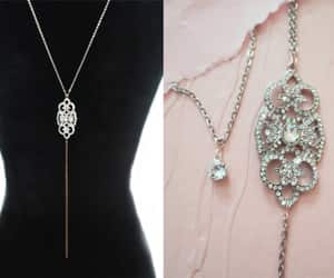 bridal jewelry, bridal necklace, and wedding necklace image