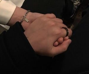 black, couple, and ring image