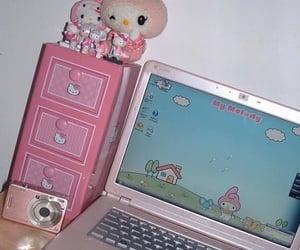 pink, hello kitty, and sanrio image