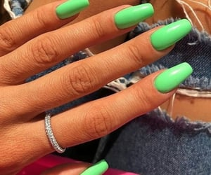 beauty, green, and nails image