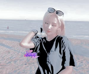 aesthetic, beach, and cube image