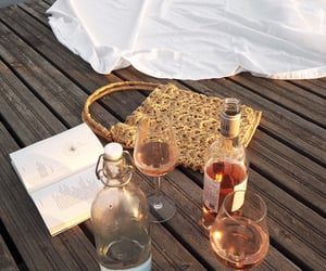 wine, drink, and book image
