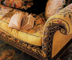 yellow, book, and sofa image