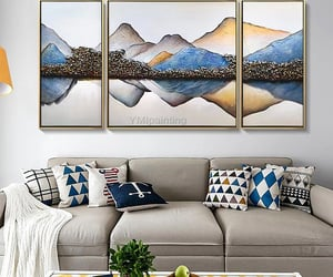 abstract art, wall pictures, and large painting image