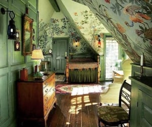 green, room, and vintage image