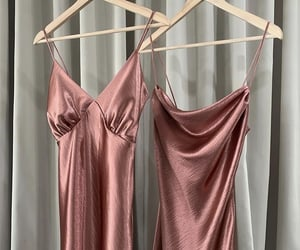 clothing rack, dream closet, and pink dresses image