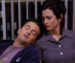 chandler bing, monica geller, and friends season 1 image
