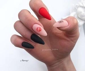 beauty, black, and nail image