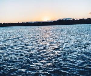 dusk, lake, and river image