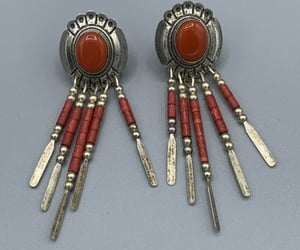 etsy, vintage earrings, and native jewelry image