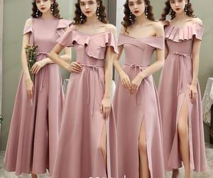 girl, girls, and pink dress image