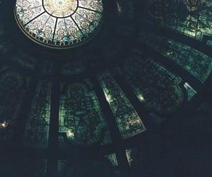 green, dark, and architecture image