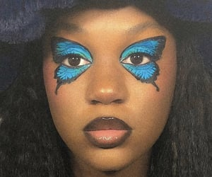 butterfly and makeup image