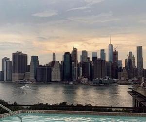 new york, nyc and pool