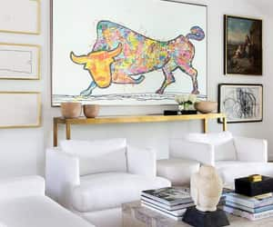etsy, painting original, and bull painting image