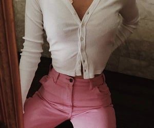fashion, pink pants, and brandy melville image