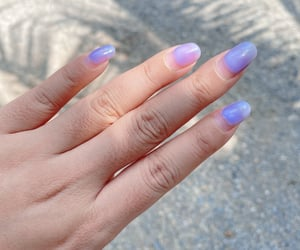lilac, manicure, and nails image