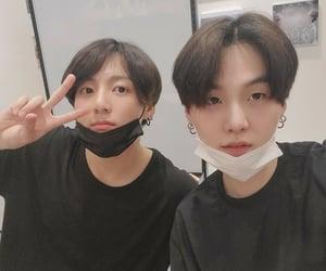 jin, j hope, and v image