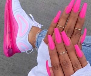 girl, pink, and pinks image