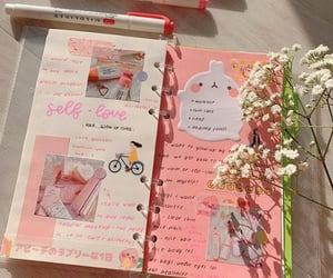 pink, cute, and bullet journal image