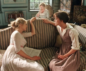 pride and prejudice, movie, and sisters image