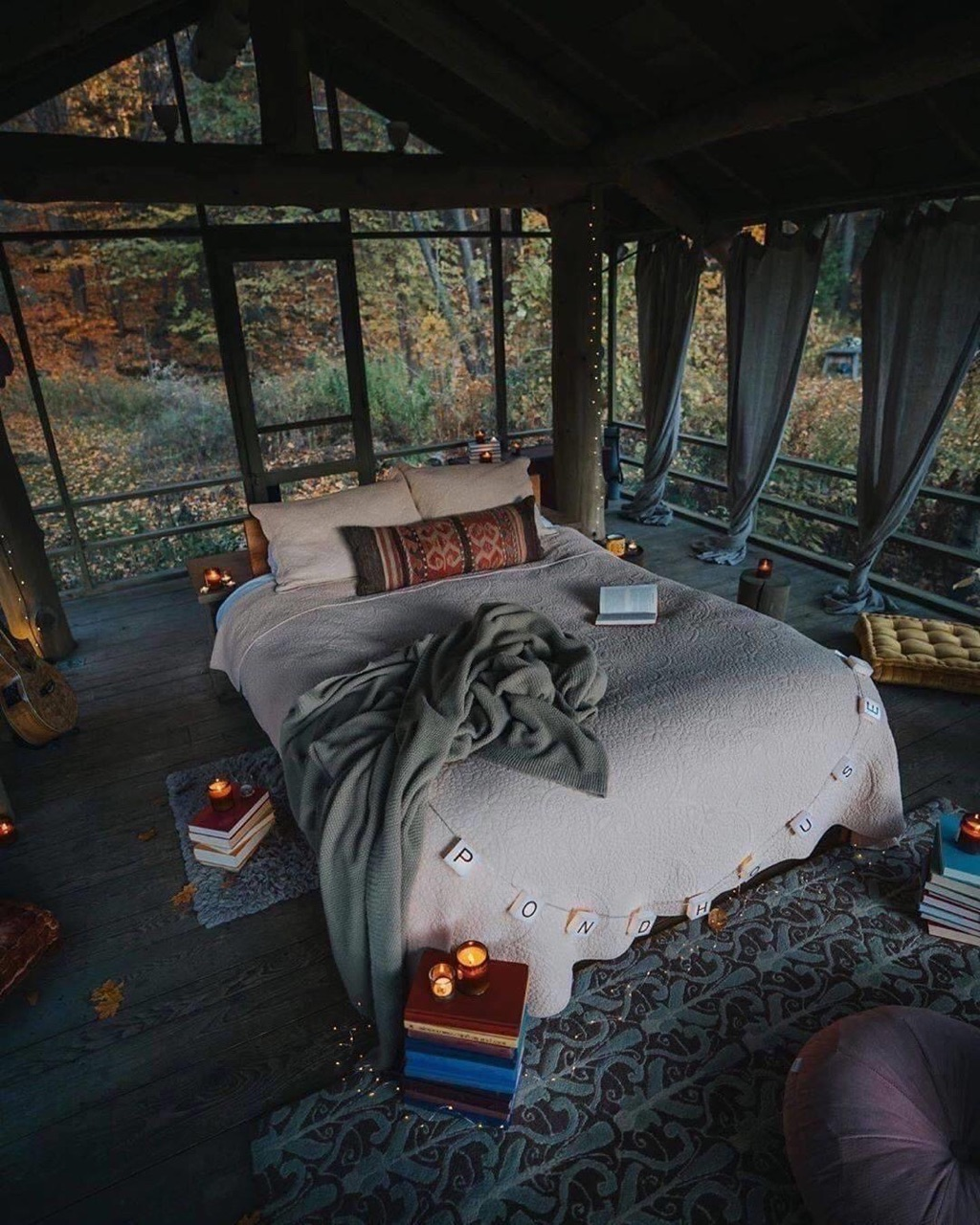 home, bedroom, and nature image