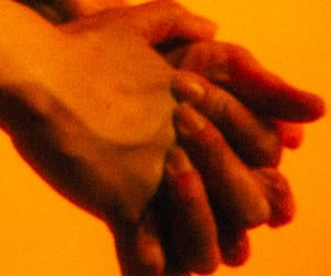 aesthetic, orange, and hands image