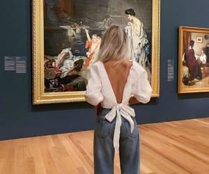 fashion, girl, and art image
