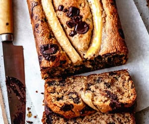 banana, bread, and chocolate image