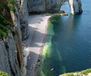 beach and cliff image