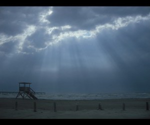 beach, relax, and storm image
