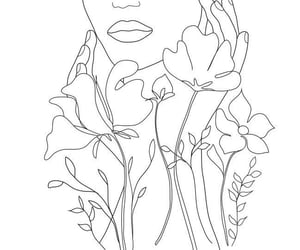 drawing, flowers, and power image