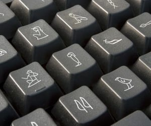 keyboard and egypt image